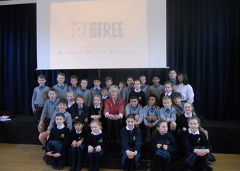 Virginia McKenna Visits Aberdour To Talk About The Born Free Foundation
