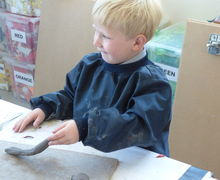 Pp2w pottery snails and with 5v in art lesson 030