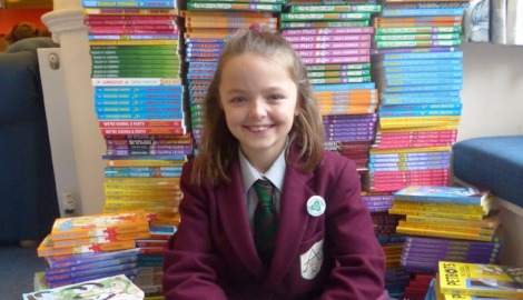 Lauren wins 500 books for Ashfold's library