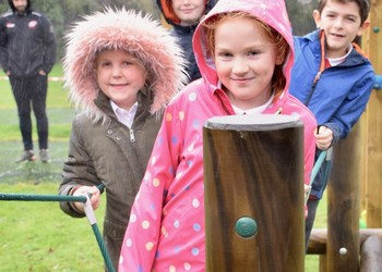 Cornish Pirate unveils outdoor PE trail at Penryn Primary Academy