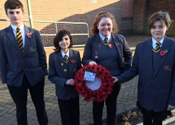 Proud Aureus students on Remembrance Sunday