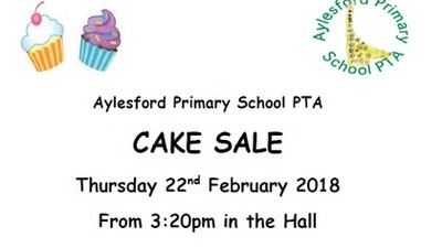 PTA CAKE SALE - Thursday 22nd February 2018