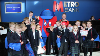 Great visit to Metro Bank for Raven Class