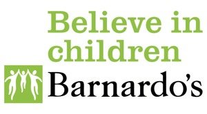 Believe in children barnardos logo vector
