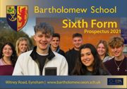 Bartholomew school sixth form prospectus 2021 cover