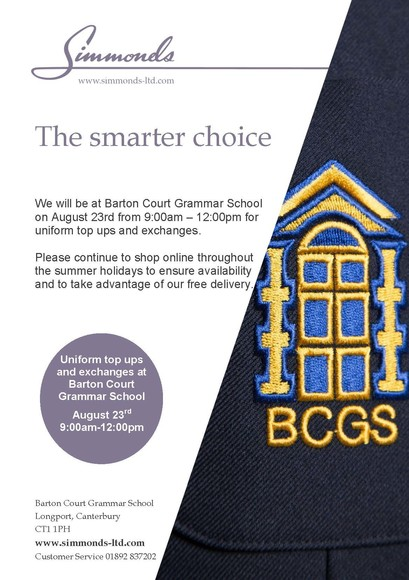 Simmonds BCGS End of Summer Selling Event 23.8.19 Flyer