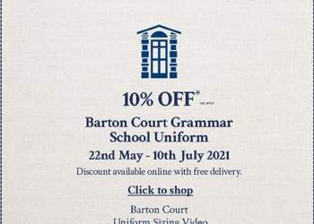 10% off School Uniform - 22 May-10 July 2021