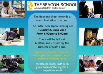 Sixth Form Open Evening Tuesday 27th June 2017