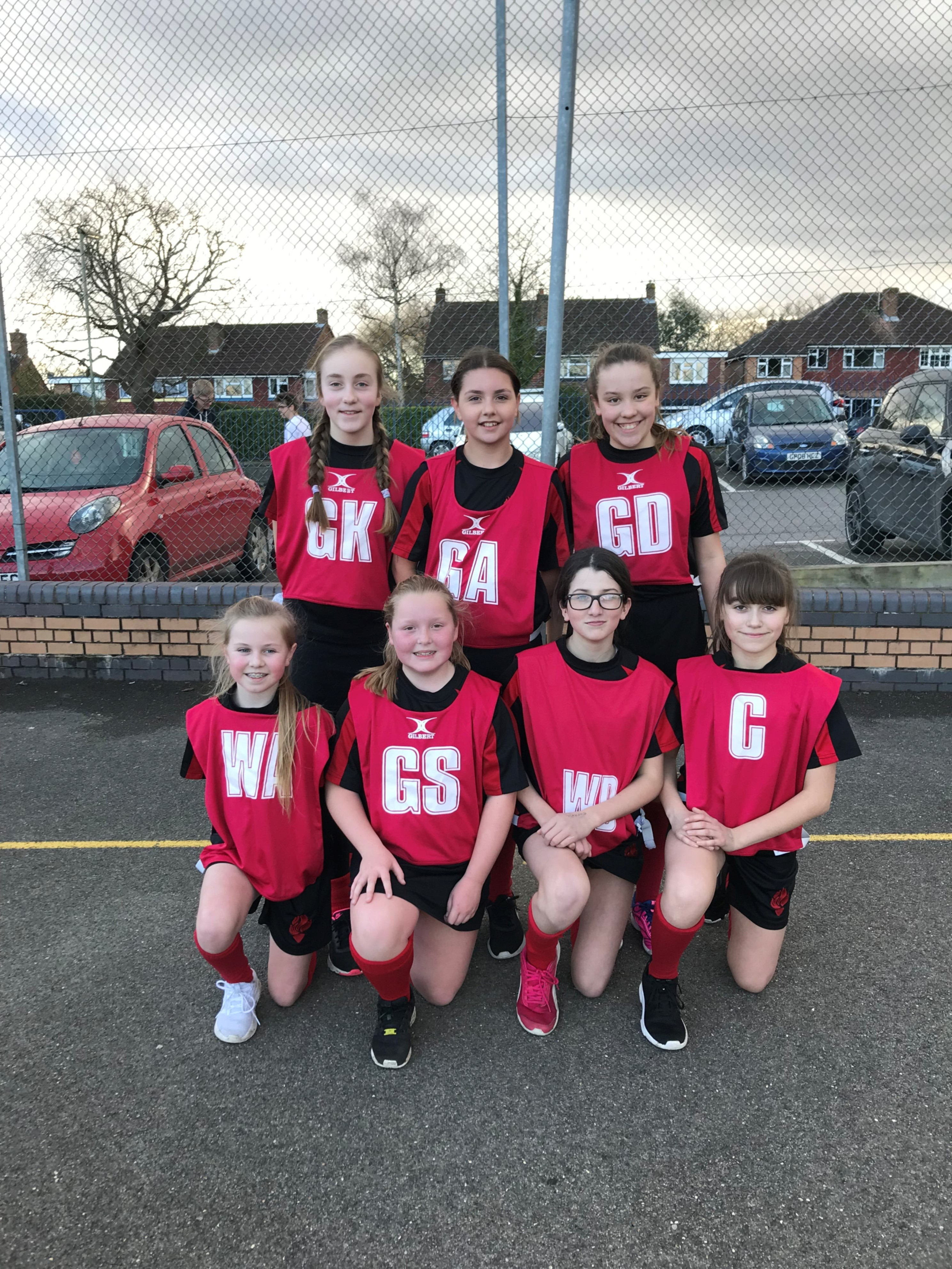 Year 7 district netball team 2018