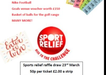 RESULTS of the Sports Relief Raffle Draw - 23 March 2018