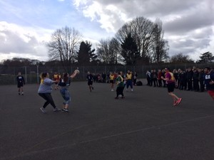 Sports relief 2018 staff netball