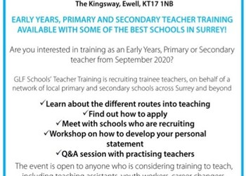 Get into Teaching Event - 8th October 2019