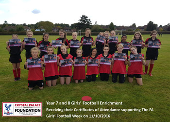 Year 7 and 8 Girls' Football Enrichment