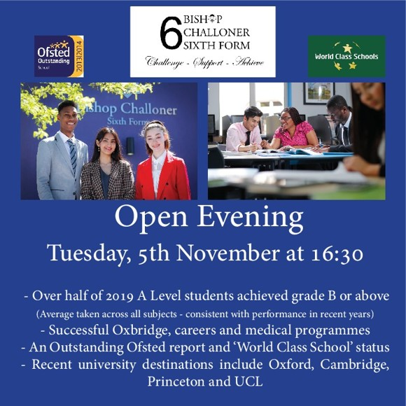 Sixth Form Open Evening Banner