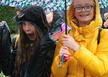 Seniors brave the elements in 10k charity walk