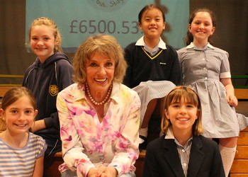 Dame Esther Rantzen pays tribute to fundraising efforts of our Junior girls