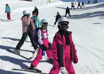 Girls brave the pistes in the Ski Trip 2019