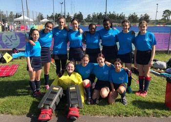 Blackheath High School girls representing Greenwich in London Youth Games