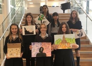 Girls show off their artistic creativity in Spirited Arts competition