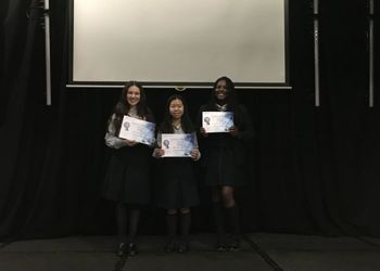 Girls awarded the silver STEM ambassador certificate