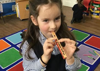 Year 1 learn about different musical instruments of the world