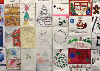 Girls showcase their talents in the Christmas card competition