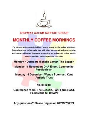 Autumn 2019 coffee morning poster