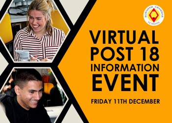 Virtual Post 18 Information Event : BGS Year 12 Students