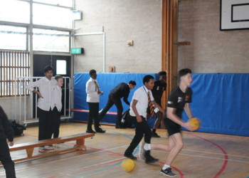 Students vs staff charity dodgeball is great success