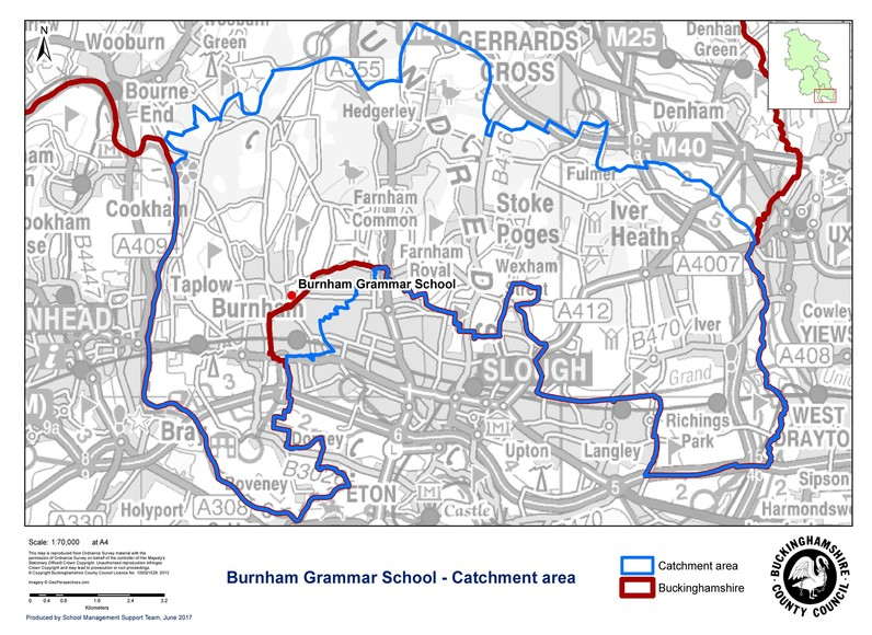 Burnham Grammar School catchment 2017