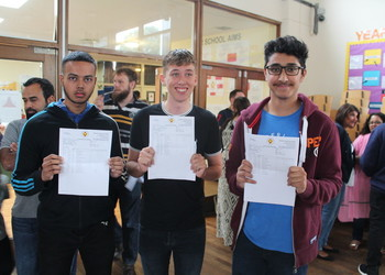 Delighted staff and students as a 98% pass rate at GCSE is achieved
