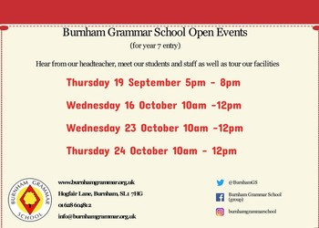 Open Events 2019 for new year 7 entry