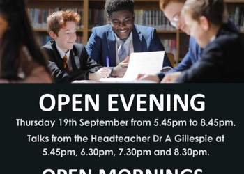 Open Evening For New year 7 Entry