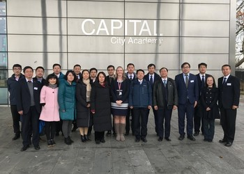 Capital welcomes members of the Ministry of Education of China and the Chinese Football Association