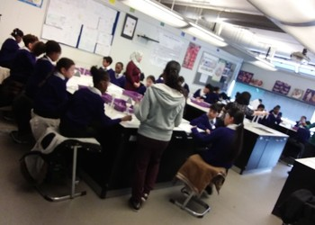 Year 5s from Leopold Primary enjoy a taster of secondary Science