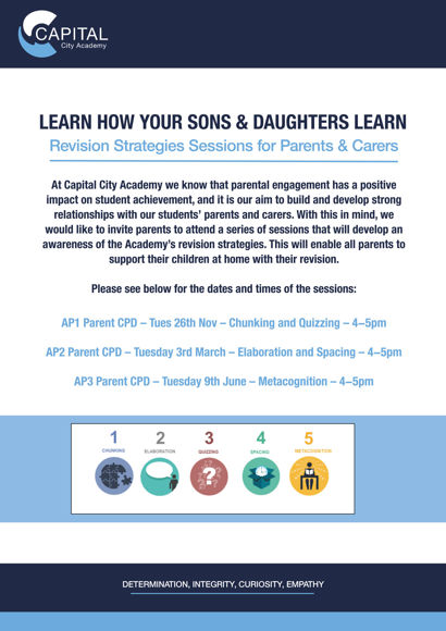 Learn how your son & daughter learn FLYER Sept 2019