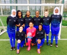 Girls Football Team playing in new kit!