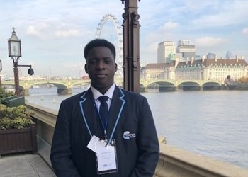 Jake in Year 11 represents Capital at the House of Lords