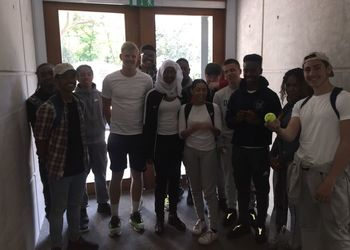 C6 Sports students visit the National Tennis Centre
