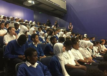 Students share moving stories in assembly for Refugee Week