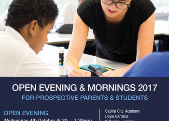Open Evening & Mornings for prospective parents & students