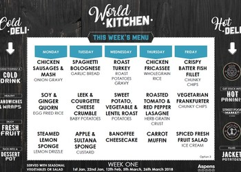 Introducing the new World Kitchen Menu