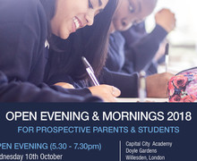 Open Evening & Morning 2018 Flyer