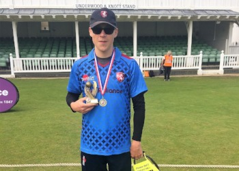 Harry succeeds at Blind Cricket