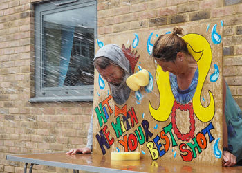 Head of School Gets a Soaking for Charity