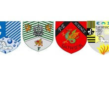 College badges horizontal
