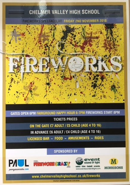 Photo of fireworks poster 2018