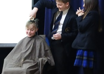 Sam Cleverley Shaves Head for Charity