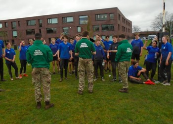 The Royal Marines Visit Christ's College