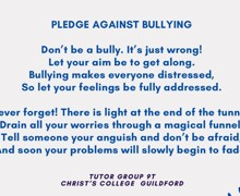 Anti Bullying Pledge Poem for facebook